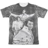 Elvis Presley Legendary Performance Adult Sublimated T-Shirt White