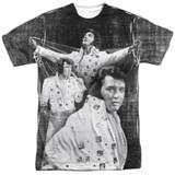 Elvis Presley Legendary Performance Adult Sublimated Crew T-Shirt White