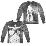 Elvis Presley Legendary Performance (Front/Back Print) Adult Sublimated Long Sleeve T-Shirt White