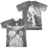 Elvis Presley Legendary Performance (Front/Back Print) Adult Sublimated T-Shirt White