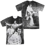 Elvis Presley Legendary Performance (Front/Back Print) Adult Sublimated Crew T-Shirt White