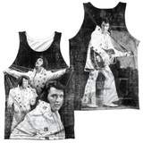 Elvis Presley Legendary Performance (Front/Back Print) Adult Sublimated Tank Top T-Shirt White