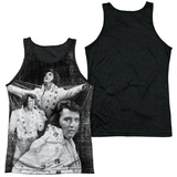 Elvis Presley Legendary Performance Adult Sublimated Tank Top T-Shirt White/Black