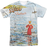 Genesis Foxtrot Cover Adult Sublimated Crew T-Shirt White