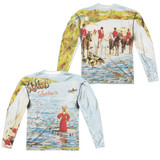 Genesis Foxtrot Cover (Front/Back Print) Adult Sublimated Long Sleeve T-Shirt White