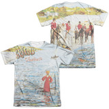 Genesis Foxtrot Cover (Front/Back Print) Adult Sublimated T-Shirt White