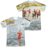 Genesis Foxtrot Cover (Front/Back Print) Adult Sublimated Crew T-Shirt White
