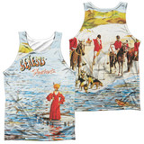 Genesis Foxtrot Cover (Front/Back Print) Adult Sublimated Tank Top T-Shirt White