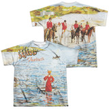 Genesis Foxtrot Cover (Front/Back Print) Youth Sublimated Crew T-Shirt White
