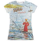 Genesis Foxtrot Cover Junior Women's Sublimated Crew T-Shirt White