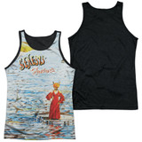 Genesis Foxtrot Cover Adult Sublimated Tank Top T-Shirt White/Black