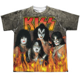 Kiss Through The Fire Youth Sublimated Crew T-Shirt White