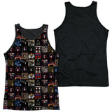 Kiss Album Covers Adult Sublimated Tank Top T-Shirt White/Black