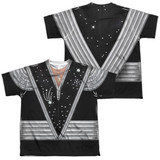Kiss Spaceman Costume (Front/Back Print) Youth Sublimated Crew T-Shirt White