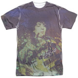 Syd Barrett Pink Floyd Title Adult Sublimated Crew T-Shirt White