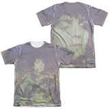 Syd Barrett Pink Floyd Title (Front/Back Print) Adult Sublimated T-Shirt White