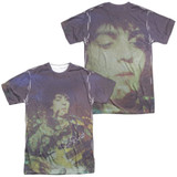 Syd Barrett Pink Floyd Title (Front/Back Print) Adult Sublimated Crew T-Shirt White