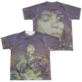 Syd Barrett Pink Floyd Title (Front/Back Print) Youth Sublimated Crew T-Shirt White