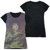 Syd Barrett Pink Floyd Title Junior Women's Sublimated T-Shirt White