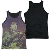 Syd Barrett Pink Floyd Title Adult Sublimated Tank Top T-Shirt White/Black