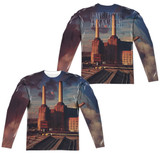 Pink Floyd Animals (Front/Back Print) Adult Sublimated Long Sleeve T-Shirt White