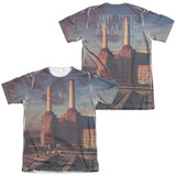Pink Floyd Animals (Front/Back Print) Adult Sublimated T-Shirt White