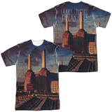 Pink Floyd Animals (Front/Back Print) Adult Sublimated Crew T-Shirt White