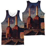 Pink Floyd Animals (Front/Back Print) Adult Sublimated Tank Top T-Shirt White