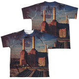 Pink Floyd Animals (Front/Back Print) Youth Sublimated Crew T-Shirt White