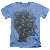 Pink Floyd Tree Of Life Adult Sublimated Heather T-Shirt Light Blue