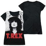 T. Rex The Slider Cover Junior Women's Sublimated T-Shirt White