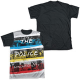 The Police Synchronicity Adult Sublimated T-Shirt White/Black