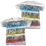The Police Synchronicity (Front/Back Print) Adult Sublimated T-Shirt White
