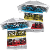 The Police Synchronicity (Front/Back Print) Adult Sublimated Crew T-Shirt White