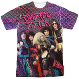 Twisted Sister Twisted 1984 Adult Sublimated Crew T-Shirt White