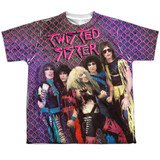 Twisted Sister Twisted 1984 Youth Sublimated Crew T-Shirt White