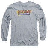 Fast Times at Ridgemont High Distressed Logo Long Sleeve Adult 18/1 T-Shirt Athletic Heather