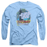 Fast Times at Ridgemont High Tasty Waves Long Sleeve Adult 18/1 T-Shirt Carolina Blue