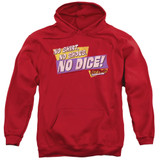 Fast Times at Ridgemont High No Dice Adult Pullover Hoodie Sweatshirt Red