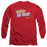 Fast Times at Ridgemont High No Dice Long Sleeve Adult 18/1 T-Shirt Red