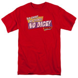 Fast Times at Ridgemont High No Dice S/S Adult 18/1 T-Shirt Red