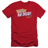 Fast Times at Ridgemont High No Dice S/S Adult 30/1 T-Shirt Red