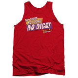 Fast Times at Ridgemont High No Dice Adult Tank Top Red