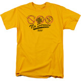 Fast Times at Ridgemont High No Service S/S Adult 18/1 T-Shirt Gold