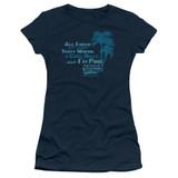 Fast Times at Ridgemont High All I Need S/S Junior Women's T-Shirt Sheer Navy