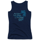 Fast Times at Ridgemont High All I Need Junior Women's Tank Top Navy