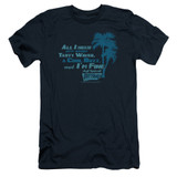 Fast Times at Ridgemont High All I Need S/S Adult 30/1 T-Shirt Navy