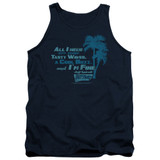 Fast Times at Ridgemont High All I Need Adult Tank Top Navy