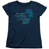 Fast Times at Ridgemont High All I Need S/S Women's T-Shirt Navy