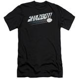 Mork & Mindy Shazbot Egg Premium Canvas Adult Slim Fit 30/1 T-Shirt Black